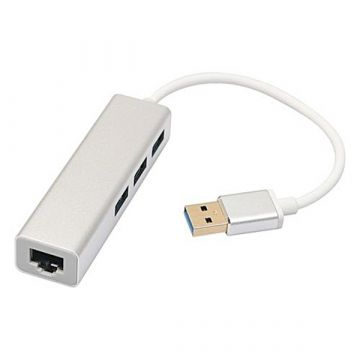 USB 2.0 Ethernet RJ45 + 3 USB adapter  Cables and adapters MacBook - 2