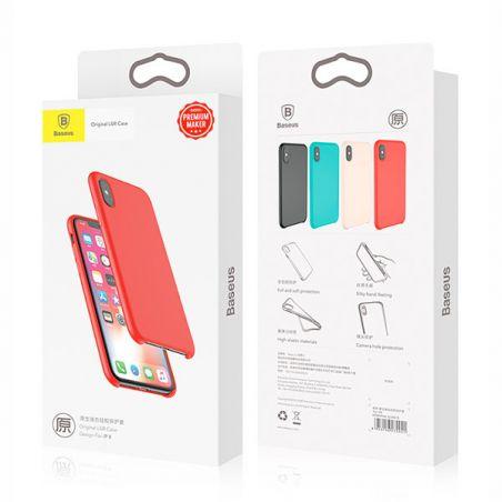 Baseus iPhone X Xs serie Touch Silicone hoesje Baseus Dekkingen et Scheepsrompen iPhone X - 3