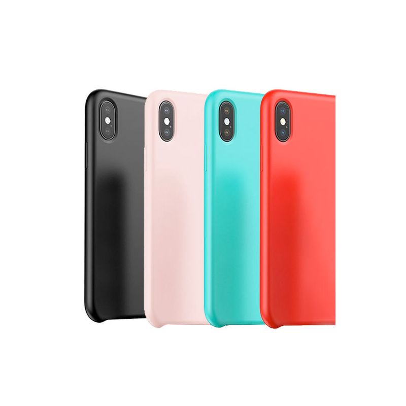 Baseus iPhone X Xs serie Touch Silicone hoesje Baseus Dekkingen et Scheepsrompen iPhone X - 1