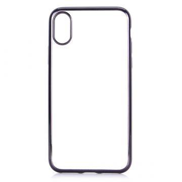 Achat Coque TPU transparente bords noirs iPhone X Xs COQXG-105
