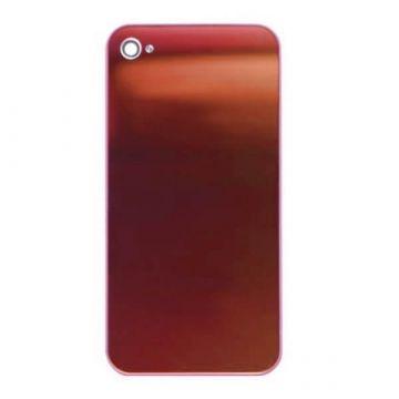 Achat Face arrière de remplacement iPhone 4 miroir Rouge IPH4G-212X