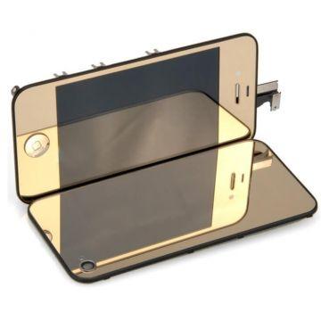 Vervangende achterwand iPhone 4 spiegels Blauw