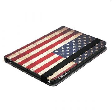 Achat Housse iPad 2 / 3 / 4 drapeau US américain vintage COQPX-016