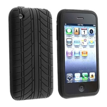 Soft Case Tire Design Black for iPhone 3G 3GS