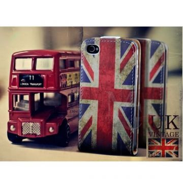 Flip Over Cover Case UK flag vintage look iPhone 5