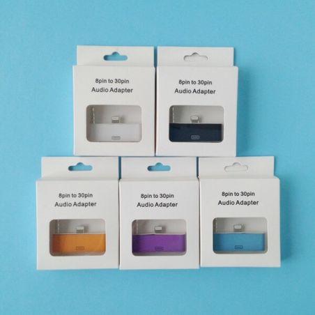 Achat Adaptateur Audio Lightning 30 pin vers 8 pin iPhone 5 / 5S / 5C, iPad Mini, iPod Touch 5, iPod Nano 7