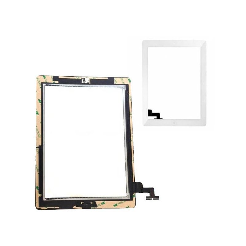 Touch Screen Glass/Digitizer Assembly For iPad 2 white + free toolkit