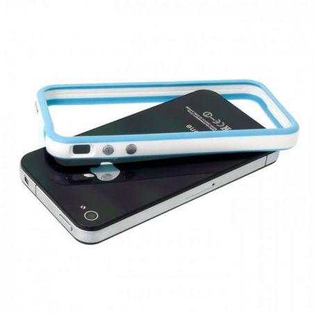 Achat Bumper - Contour TPU Bleu & Blanc IPhone 4 & 4S COQ4X-015X