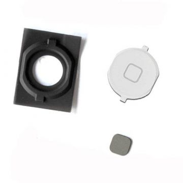 Home Button With Gasket iPhone 4S White