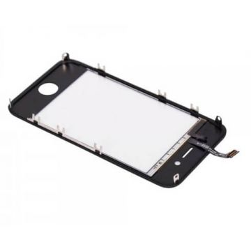 Touch Screen Digitizer with Frame Assembly for IPhone 4S Black