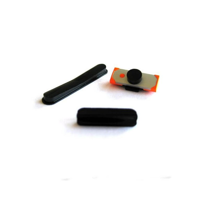 Set of 3 buttons power, volume and mute black iPad 2