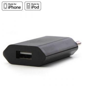 Zwarte netlader voor iPhone en IPod
