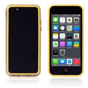 Achat Bumper - Contour TPU jaune et transparent iPhone 5C COQ5C-002X