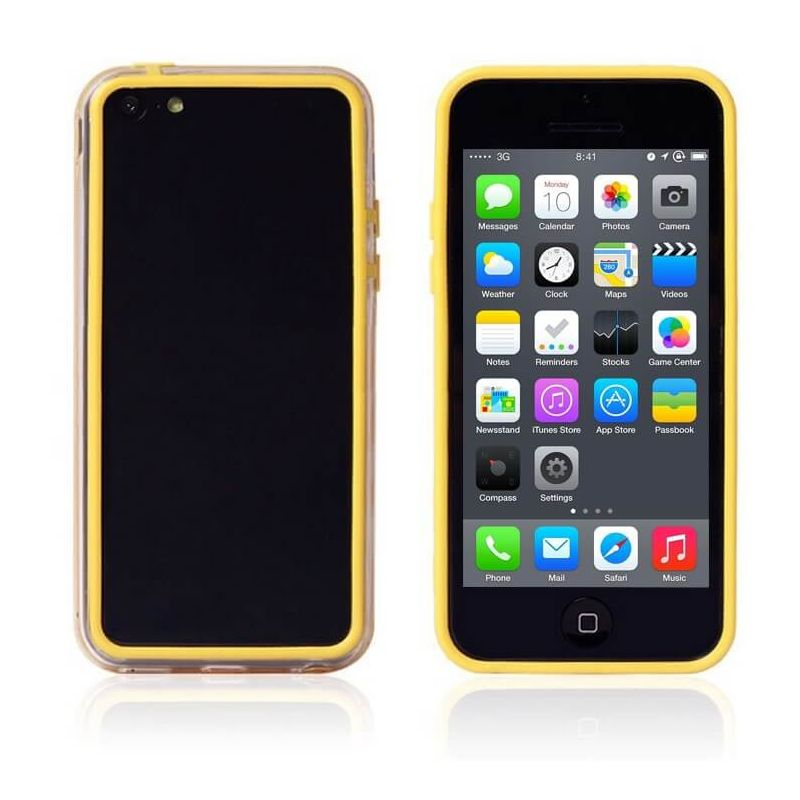 TPU Bumper Yellow and Transparent for iPhone 5C
