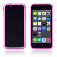 Achat Bumper - Contour TPU rose et transparent iPhone 5C COQ5C-005X