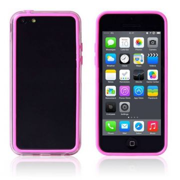 TPU Bumper Pink and Transparent for iPhone 5C
