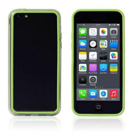 Achat Bumper - Contour TPU vert et transparent iPhone 5C COQ5C-004X