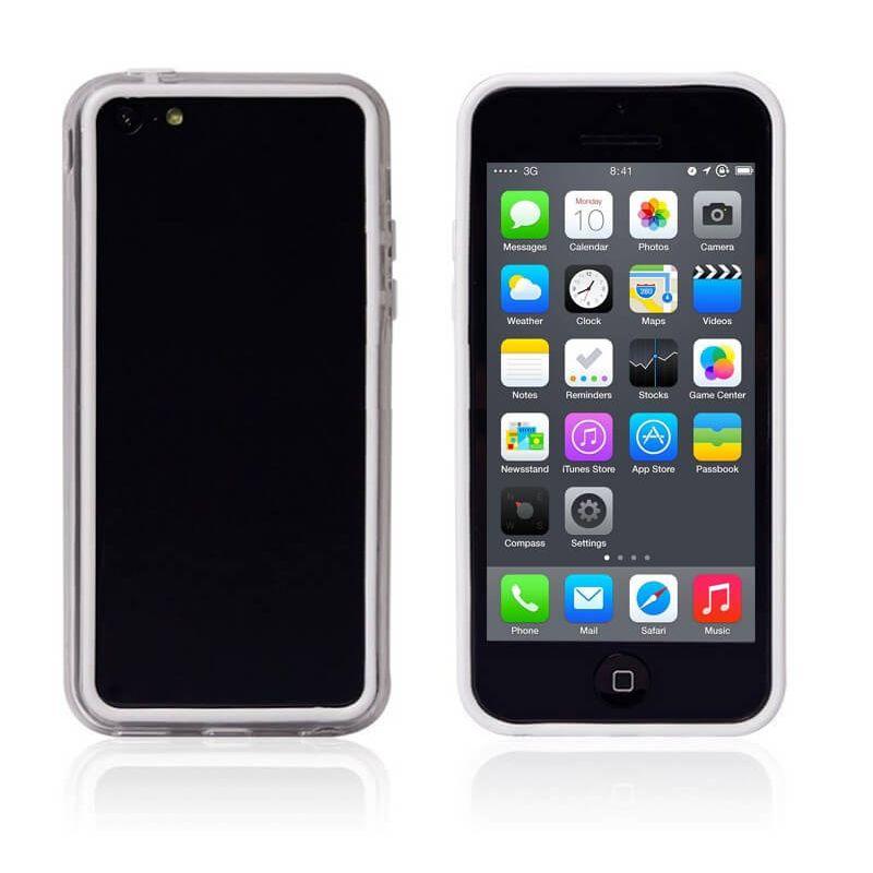Achat Bumper - Contour TPU Blanc et transparent iPhone 5C COQ5C-001X