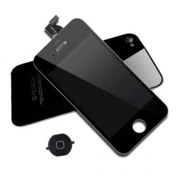 Achat KIT COMPLET qualité originale : Vitre tactile, écran LCD, châssis et vitre arrière pour iPhone 4S Noir IPH4S-007