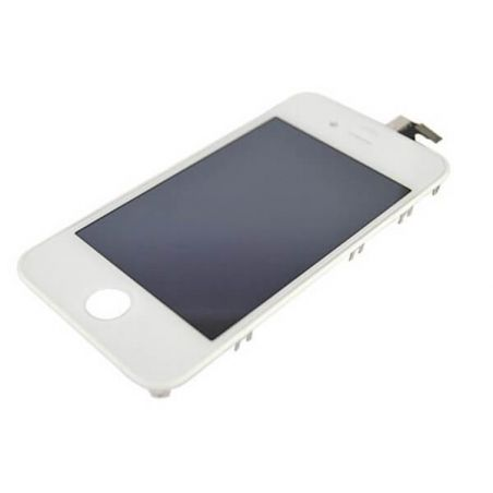 Original Quality Complete Kit : Glass Digitizer & LCD Screen & Frame + Backcover + Button for iPhone 4 White