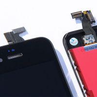 Original Glass Digitizer & LCD Screen & Full Frame for iPhone 4S Black