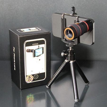 Achat Télescope 8X avec coque et trépied pour iPhone 5/5S/SE COQ5X-115X