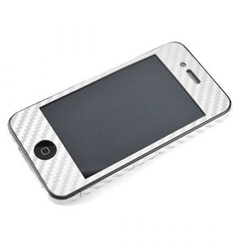 Hautaufkleber Schutz-Look Carbon IPhone 4