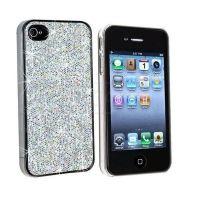 Strass Shell - Silver Glitter IPhone 4 & 4S met zilveren glitter