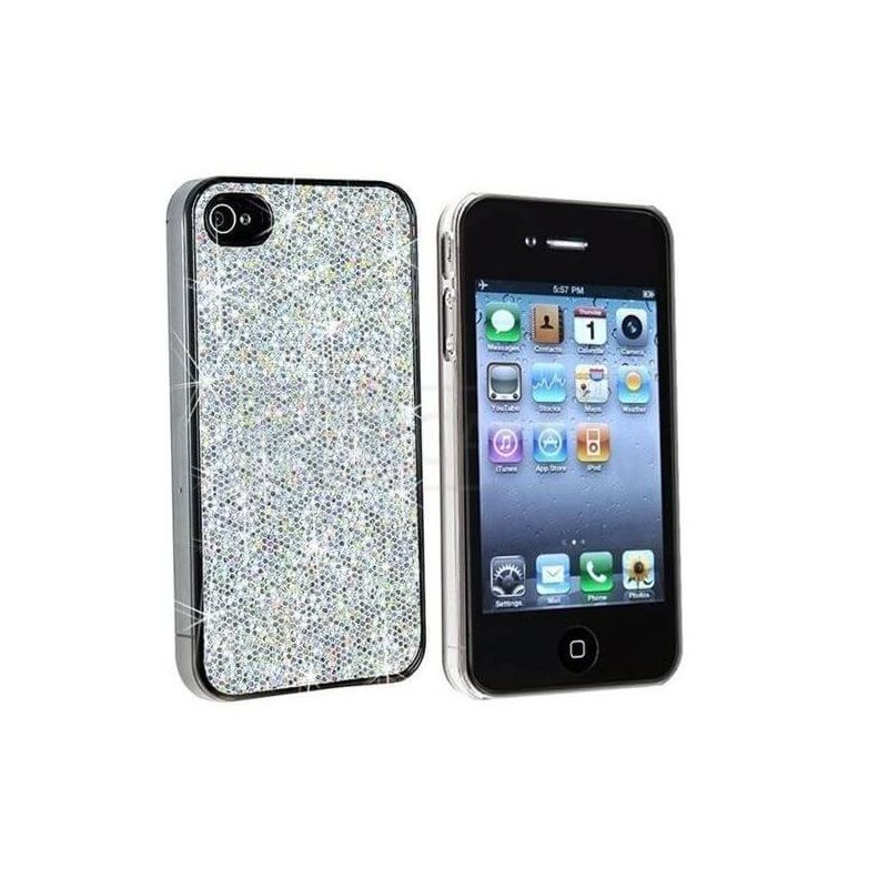 Strass shell - Pink sequins IPhone 4 & 4S