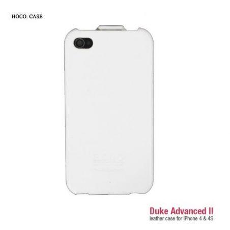 Achat Housse Cuir Blanc Hoco iPhone 4 4S COQ4X-122X