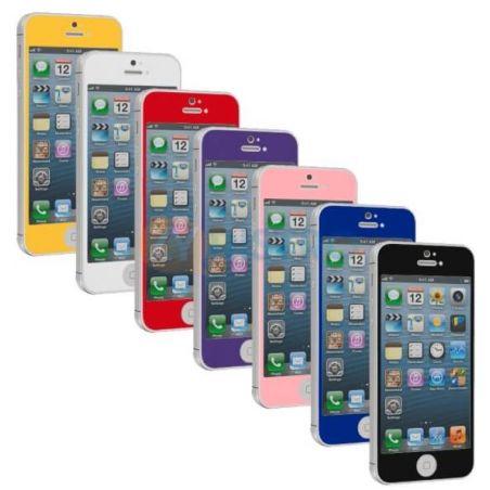 Folienglas gehärteter Schutz Frontschutz iPhone 5/5S/5C/SE Farbe