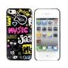 Coque rigide music jazz iPhone 5/5S/SE
