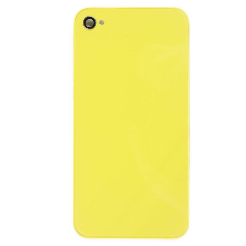 Achat Face arrière de remplacement jaune pour iPhone 4S IPH4S-085X