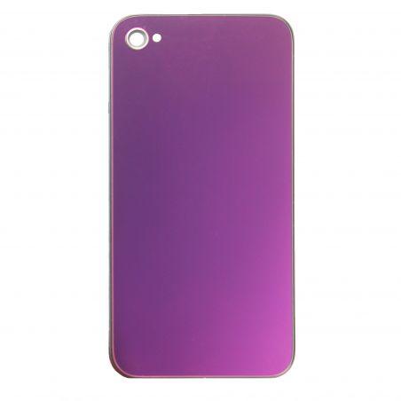 Achat Face arrière de remplacement iPhone 4S miroir Pourpre Mauve IPH4S-206X