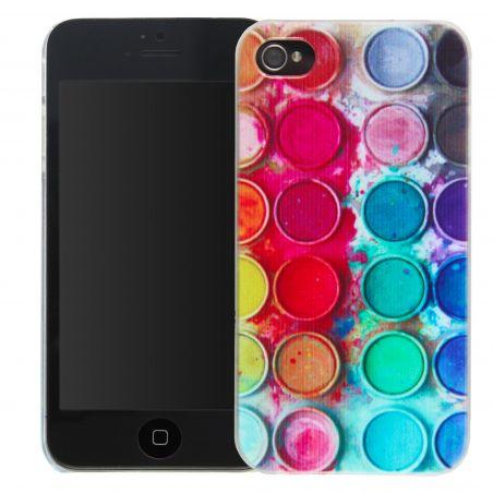 Coque peinture palette de couleurs iPhone 4 4S
