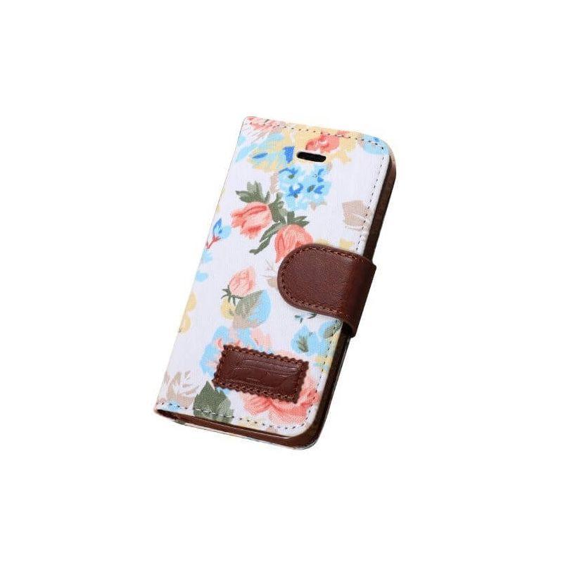 Achat Etui portefeuille Fleurs iPhone 5/5S/SE