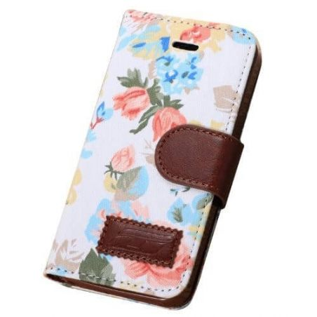 Flower style Portfolio Stand Case iPhone 5/5S/SE  Covers et Cases iPhone 5 - 2