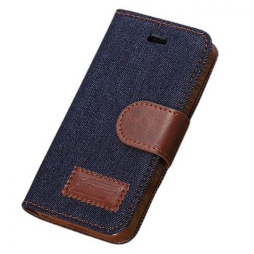 Denim style Portfolio Stand Case iPhone 5/5S/SE  Covers et Cases iPhone 5 - 2