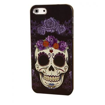 Achat Coque iPhone 4 4S Tête de mort et Fleurs COQ4X-230X