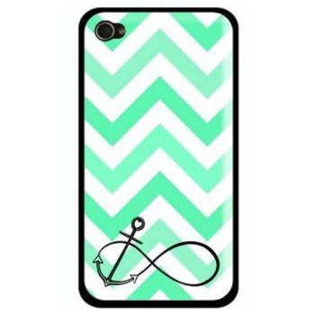 Achat Coque iPhone 5/5S/SE Navy Turquoise Ancre et chevrons COQ5X-262X