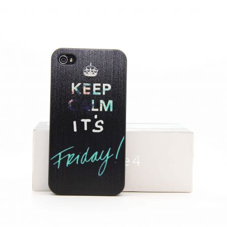 'Keep Calm it's Friday' Hardcase for iPhone 4 4S   Covers et Cases iPhone 4 - 3