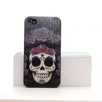 Hardcase for iPhone 4 4S Skull and flowers  Covers et Cases iPhone 4 - 3