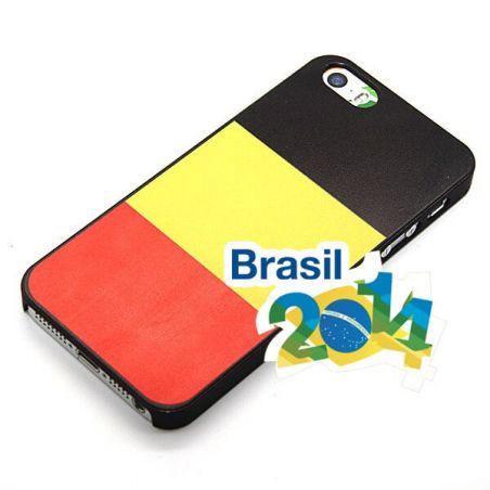 Coque coupe du monde  drapeau belge Mondial iPhone 5 5S