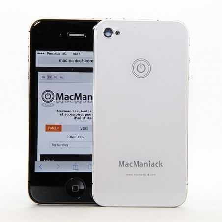 MacManiack Backcover Weiss iPhone 4S