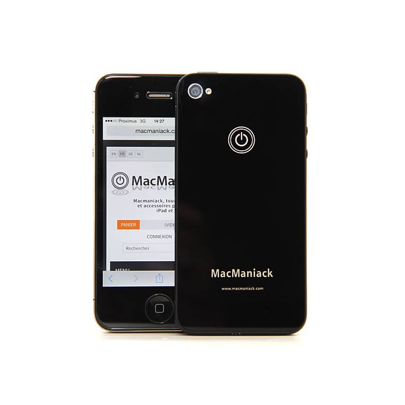 MacManiack Replacement Back Cover iPhone 4S Black  Back covers MacManiack iPhone 4S - 1