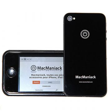 MacManiack Replacement Back Cover iPhone 4S Black  Back covers MacManiack iPhone 4S - 2
