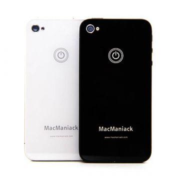 Achat Coque arrière Face de remplacement vitre MacManiack IPhone 4S Noir IPH4S-300X