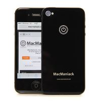 rear shell replacement glass replacement MacManiack IPhone 4 Black  Back covers MacManiack iPhone 4 - 1