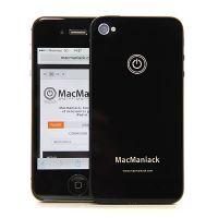 Heckschale Ersatzglas Ersatz MacManiack IPhone 4 Schwarz  Rückenschalen MacManiack iPhone 4 - 1