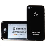 rear shell replacement glass replacement MacManiack IPhone 4 Black  Back covers MacManiack iPhone 4 - 2